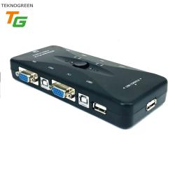 TEKNOGREEN - TEKNOGREEN (TVS-344) 4PC 1KVM KONTROL MANUEL USB KVM SWITCH