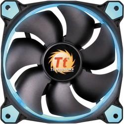 THERMALTAKE CL-F038-PL12BU-A Riing 12cm Yüksek Statik Basınçlı Mavi Halka Ledli Kasa&Radyatör Fanı - Thumbnail