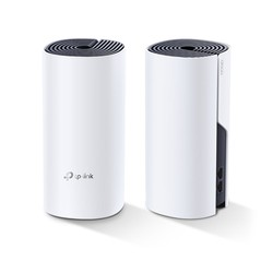 TP-LINK - TP LINK DECO P9(2-PACK) AC1200 WHOLE-HOME HYBRID MESH WI-FI SYSTEM WITH POWERLINE QUALCOMM CPU 867MBPS AT 5GHZ+300MBPS AT 2.4GHZ AV1000 POWERLINE HOMEPLUG AV2 2 GIGABIT PORTS 2 INTERNAL ANTENNAS MU-MIMO BEAMFORMING PARENTAL CONTROLS QUALITY OF S