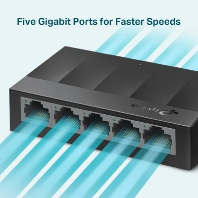TP-LINK LS1005G 5 PORT GIGABIT LITEWAVE MASAÜSTÜ SWITCH (PLASTİK KASA)