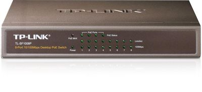 Tp-Link TL-SF1008P 8Port 10/100M Masaüstü PoE Yönetilemez