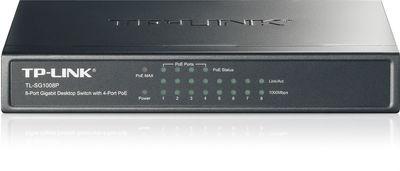 TP-LINK TL-SG1008P 8 PORT 10/100/1000Mbps Yönetilemez SWITCH + 4 Port PoE