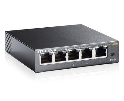 Tp-Link TL-SG105E 5 Port Gigabit Easy Smart Yönetilebilir Switch