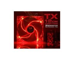 TX - TX TXCCF12RD Kırmızı 12cm Sessiz Kasa Fanı