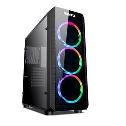 FSP - VENTO 500W 80+ VG04F 3X RGB FANLI GAMING MID-TOWER KASA Siyah