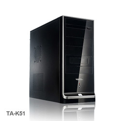 VENTO - VENTO TA-K51 400W Atx Kasa Siyah 1 x USB 2.0, 1 x USB 3.0,