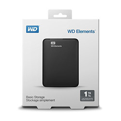 WESTERN DIGITAL - WD 2.5 ELEMENTS 1TB USB 3.0 EXTERNAL HDD SİYAH WDBUZG0010BBK-WESN