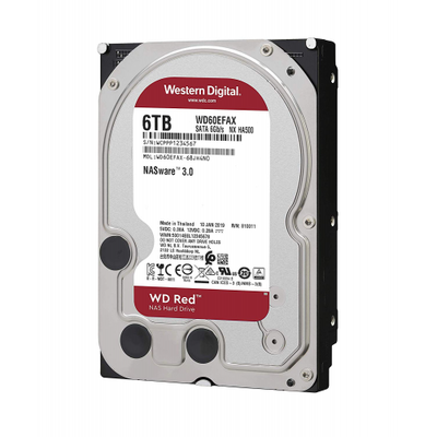 WD RED 3,5 6TB 256mb 7/24-NAS-SERVER (WD60EFAX)